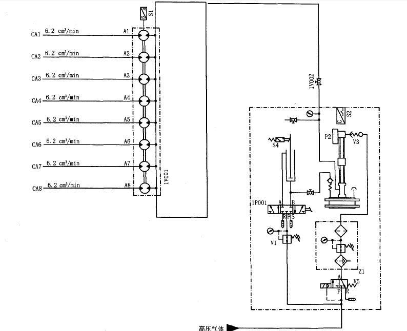 电气控制原理:    气动注脂泵启动分为自动启动模式和手动启动模式.
