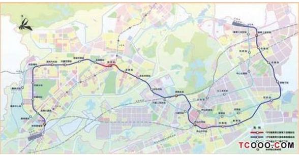 深圳地铁12号线线路图 将与东莞地铁2号线连接图片