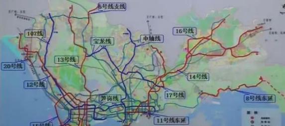 深圳地铁新规划16条线路