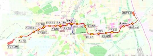 南通地铁一号线2016规划图